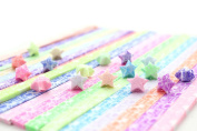 yueton 300 Sheets Glows In The Dark Stars Folding Paper - Lucky Wish Star Origami Paper - 10 Different Colours by Random