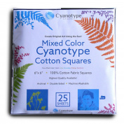 Cyanotype Cotton Squares - 25 pack