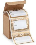 72 Trendy 10cm x 5.1cm Peel N Stick Metallic & White Christmas Gift Tags Stickers