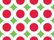 BHYMT Red Lime Green BRIGHT CHRISTMAS GEOMETRIC Gift Wrap Wrapping Paper - 4.9m Roll