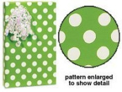 BHYMT New Citrus Lime Green & White Polka Dot Gift Wrap Wrapping Paper 4.9m Roll