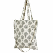 Flowertree Women's Dandelion Seed Convertible Canvas Tote Bag