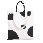 Flowertree Women's Dairy Cow Pattern Convertible Canvas Tote Bag Large