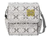 Petunia Pickle Bottom Boxy Backpack Nappy Bag in Breakfast in Berkshire, Grey/White, 33cm W x 34cm H x 14cm D