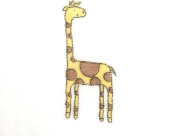 Giraffe - Cotton Baby Swaddling/Receiving Blanket with 2 Free Stroller Clips