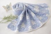 Riho Baby 100% Muslin Cotton Gauze No Formaldehyde No Phosphor Bath Towel Swaddle Blanket(5 layers)