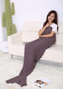 Shine Peak 2016 The New Fish-scale Pattern Mermaid Blankets For Adult