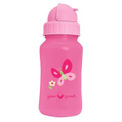 iPlay Inc., Green Sprouts, Aqua Bottle, Pink, 10 oz (300 ml) - 2pc