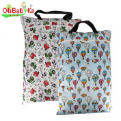 2PCS Large Wet Dry Hanging Pail Bag for Baby Cloth Nappy or Laundry, Farm Helium balloon