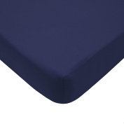 American Baby Company Cotton Percale Fitted Crib Sheet, Navy