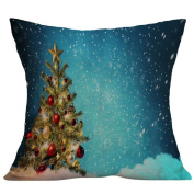 Pillow Cases,Dirance(TM) Home Decor Christmas Linen Square Throw Flax Pillow Case Decorative Cushion Cover