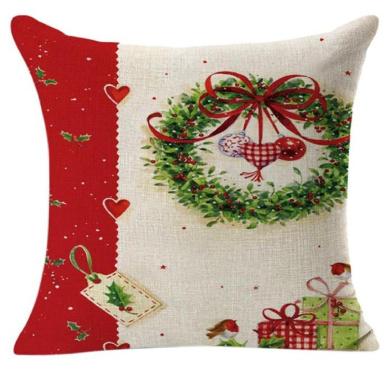 Pillow Cases,Dirance(TM) Home Decor Christmas Linen Square Throw Flax Decorative Cushion Pillow Cover (A)