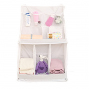 Mily Hanging Nursery Nappy Organiser Bag for Baby Bed White