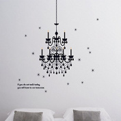 CHANDELIER wall sticker ceiling fashioned bedroom lounge vinyl candle stickers