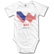 Toddler September 11 American Flag Baby Onesie Girls Romper