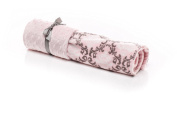 Elonka Nichole Baby Girl Damask Original Mimi Receiving Blanket, Pink/Grey, 90cm X 70cm