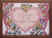 A Sister Is - Counted Cross Stitch Kit 13cm x 18cm # 5009