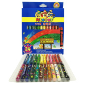 Magicdo 24cols, Oil Pastels, Soft Coloured Oil Pastels stick - Assorted Colours, Non Toxic, Smooth Blending Texture, Ideal For All Artist Levels