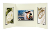 Golden State Art, Cardboard Photo Folder For 3 4x6 Photo (Pack of 50) GS002 Ivory Colour