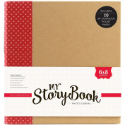 Echo Park Paper MSBA0005 My Storybook Album Photo Journal, 15cm x 20cm , Red Dot, Multicolor