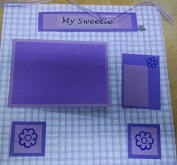 My Sweetie Purple Theme 12x12 Scrapbook Page Kit
