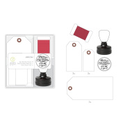 American Crafts 332644 Stamp Kit Stamps, Tags & Twine Kit