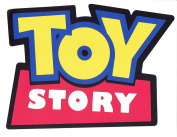25cm X 18cm layered paper hand glued TOY STORY sign blue yellow red LASER DIE CUT OUT Disney party decor wall sign banner photo booth prop Cricut