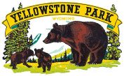 Yellowstone Park Greetings Reproduction Luggage Decal 7.6cm x 13cm