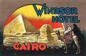 Windsor Hotel Cairo Reproduction Luggage Decal 7.6cm x 13cm