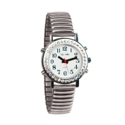 Ladies Talking Watch with Rhinestone Bezel and Expansion Band -English