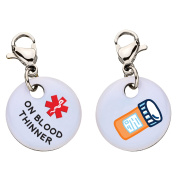 On Blood Thinner Snap-On Bracelet Charm-Parent