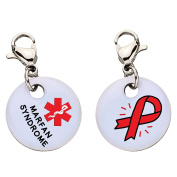 Marfan Syndrome Snap-On Bracelet Charm-Parent (Stainless Steel),102