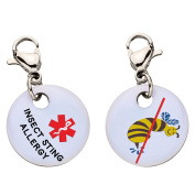 Insect Sting Allergy Snap-On Bracelet Charm-Parent (Stainless Steel),87