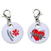 Heart Condition Snap-On Bracelet Charm-Parent (Stainless Steel),94