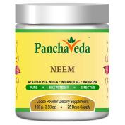 Panchaveda Neem Leaf Powder Organic, Natural, Ayurvedic, Herbal Blood Cleanser Supplement - Azadirachta indica Margosa Tree Indian Lilac Nimba Churna For Healthy Skin, Hair, Diabetes & Liver Detox