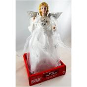 Angel Tree Topper Silver/White