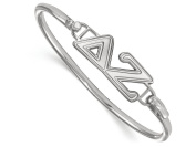 LogoArt Sterling Silver Delta Zeta Small Hook and Clasp Bangle