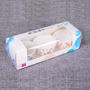 100Pcs Disposable Paper Cake Cup Cake Muffin Mould for Baking Colour Random