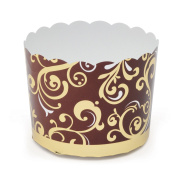 Welcome Home Brands Baking Cups, Brown Vine, 5.8cm d x 5.1cm h, Case/500