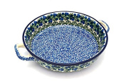 Polish Pottery Baker - Round with Handles - Large - Huckleberry