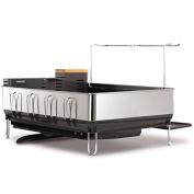 simplehuman Steel Frame Dish Rack with Wine Glass Holder KT1154