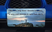 Decal Sticker Mountain World Quote Big Dreams You Can Do It Aluminium Licence Plate for Car Truck Vehicles