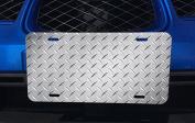 Diamond Plate Design Aluminium Licence Plate for Car Truck Vehicles