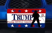 Trump Pissing all Over America Funny Political Aluminium Licence Plate for Car Truck Vehicles