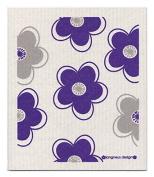 Swedish Dishcloth, Purple & Black