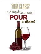 Yoga Class Sentiment - Wine Glass, Bottle, and Grapes - Icon
