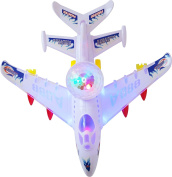 Best Toys for Kids Flashing, Blinking, Spinning Blue Flame and Flares Plane with Music for Kids Age 3 and Up Age 3 and Up