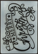 Hot Off the press - Merry Christmas Embossing Folder 6015