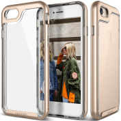 iPhone 7 Case, Caseology [Skyfall Series] Transparent Clear Slim Scratch Resistant Protective Cover Air Space Technology [Gold] for Apple iPhone 7