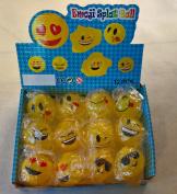 DOMAGRON 6.4cm Splat Emoji Ball (Package of 12) - Emoticon Splat Ball